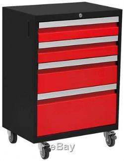 NewAge Products Mobile Tool Drawer Cabinet Storage Welded Steel Rolling 24 Gauge
