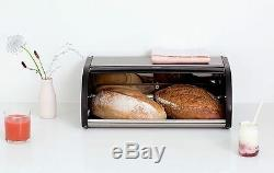 New Brabantia Large Roll Top Bread Bin Matte Steel Corrosion Resistant Storage