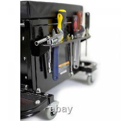 New Workshop Garage Glider Mechanics Rolling Chest Seat Durable Tool Box Storage