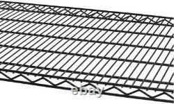 PRO Black 5-Tier Rolling Steel Wire Garage Storage Shelving Unit36in. Wx77. Hx18. D