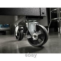 Portable 27 in. 2-Drawer Steel Utility Cart Rolling Tool Storage Cabinet Granite