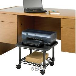 Printer Stand Fax Machine Table Shelf Under Desk Rolling Printing Paper Storage