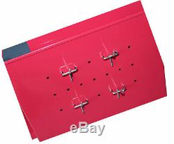Red 2-Pc. 6 Drawer Ball Bearing Slides Rolling Tool Storage Chest Rollaway