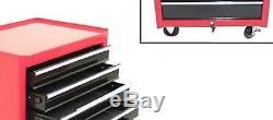 Red Ball Bearing Steel Tool Drawer Cabinet Storage Rolling Chest Box Organizer