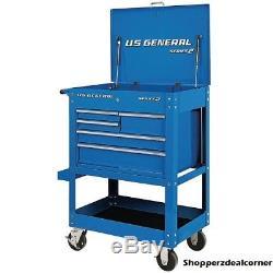 Roll Around 30 In. 5 Drawer Rolling Tool Box Storage Chest Cabinet Cart Garage
