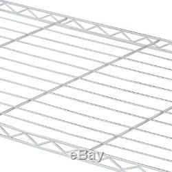 Rolling 4 Shelf Steel Garment Rack Hanger Bars Clothes Storage Organizer Chrome