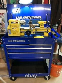 Rolling Cart Tech Tool Cabinet Service Storage Cart 4 Drawer BLUE