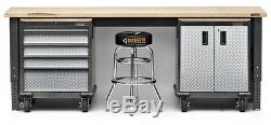 Rolling Garage Cabinet Mobile Tool Chest Box Storage Toolbox Organizer Steel