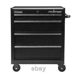 Rolling Garage Storage Cabinet 4 Drawer Bottom 26 Chest Steel Tool Organizer