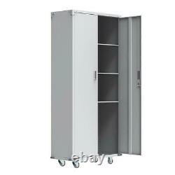 Rolling Garage Tool Box Storage Cabinet Shelving Door Heavy Duty Casters 2 lock