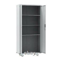 Rolling Garage Tool Box Storage Cabinet Shelving Door Heavy Duty Casters New
