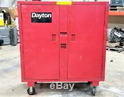 Rolling Jobsite Storage Cabinet Toolbox, 60H x 60W x 24D WithLock Enclosure