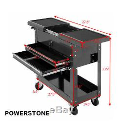Rolling Mechanics Tool Cart Slide Top Utility Storage Cabinet