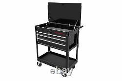 Rolling Mechanics Tool Cart Slide Top Utility Storage Cabinet Organizer 4 Drawer