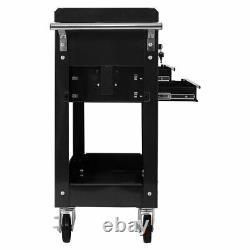 Rolling Mechanics Tool Cart Utility Storage Cabinet Organizer with 2 Drawer
