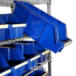 Rolling Rack Bin Bins Storage Shelving Garage Wheels Commercial Steel Heavy Duty