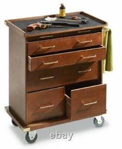 Rolling Storage Cabinet Furniture with Locking Wheels Storage Organizer Hardwood