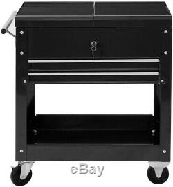 Rolling Storage Mechanics Tool Cart Slide Utility Cabinet Organizer 2 Drawer
