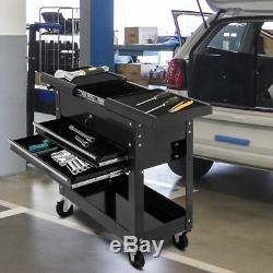 Rolling Tool Box Cart Organizer Storage Travel Portable Cabinet Utility Work New