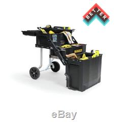 Rolling Tool Box Organizer Portable Workshop Wheeled Cart Storage Bin Cantilever