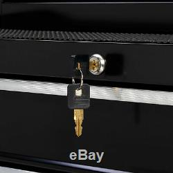 Rolling Tool Box Storage Chest 4 Drawer Mechanic Locking Cart Cabinet on Wheels