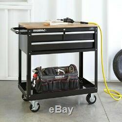 Rolling Tool Cabinet Storage Chest Box Garage Toolbox Organizer Drawer Husky NEW