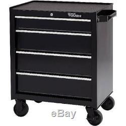 Rolling Tool Cabinet Wheel Cart Flexible Storage Drawer Durable Steel Black