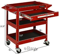 Rolling Tool Cart Storage Organizer Mechanic Cabinet With Drawer ToolBox