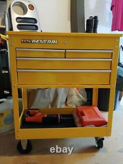 Rolling Tool Cart Tech Storage Cabinet Service Mobile Cart 4 Drawer YELLOW