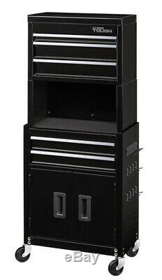 Rolling Tool Chest 20 Cabinet Combo 5 Drawers Workshop Garage Storage Organize