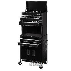 Rolling Tool Chest 20-Inch 5-Drawer Cabinet Combo Garage Organizer Storage Space