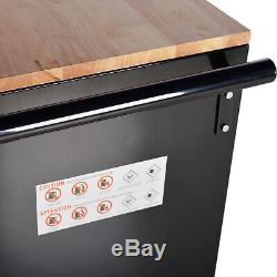 Rolling Tool Chest Cabinet Storage 9-Drawer Organizer Garage Mobile Workbench