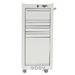 Rolling Tool Chest Cart White Salon Cabinet Artist Organizer Storage Box Viper