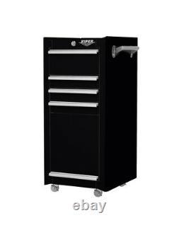 Rolling Tool Chest Salon Cart Black Cabinet Pro Artist Organizer Storage Box