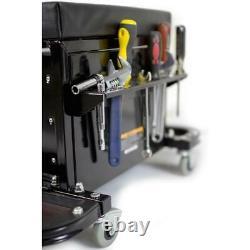 Rolling Tool Chest Seat Chair Garage Glider Portable Storage Cabinet Organizer