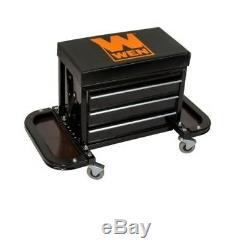 Rolling Tool Chest Seat Garage Glider Portable Storage Home Cabinet Organize