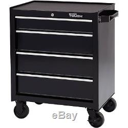 Rolling Tool Chest Steel Cabinet 4-Drawer Wheeled Mechanic Box Garage Storage