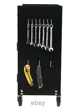 Rolling Tool Chest Storage Cabinet Box Mechanic Garage Steel Pegboard Wheels