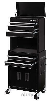 Rolling Tool Chest Storage Cabinet Box Mechanic Garage Steel Pegboard Wheels NEW