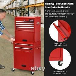 Rolling Tool Chest Storage Cabinet Box Mechanic Garage Steel Wheels Heightening