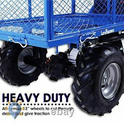Rolling Utility Cart Wagon New Heavy Duty Leaf Cargo Storage Electric Power Kit