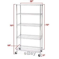 Shelving System Commercial Storage Steel Wire Seville Rolling Shelves Ultrazinc