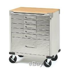 Stainless Steel Rolling Tool Box Cabinet Workbench 6 Drawer Organizer Storage