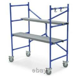 Steel Portable Scaffold Rolling Portable Versatile Push Cart Storage Shelf Bench