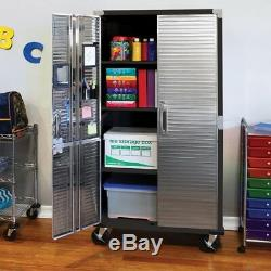 Storage Cabinet Stainless Steel Heavy Duty Rolling Garage Tool Shed Work Shop