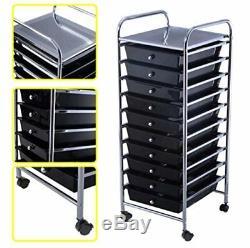 Storage Cart Scrapbook Paper Office School 10 Organizer Utility Drawer Rolling