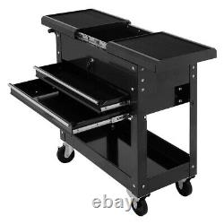 Storage Drawer Organizer Rolling Mechanics Tool Cart Slide Top Utility 2 Drawer