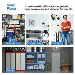 Storage Garage Rolling Shelves Wire Shelving Unit Heavy Duty Steel Shelf Rack