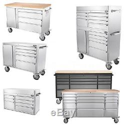 THOR Steel Rolling Tool Cabinet Cart Box Chest Toolbox Storage 41/48/72 R6L3