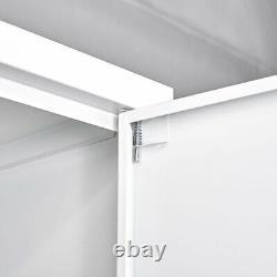 Tall Steel Storage Cabinet Kitchen Pantry Cupboard Garage Tool Adjustable Shelf